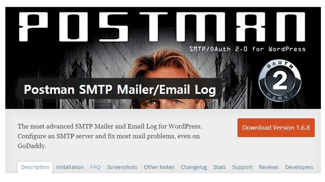 Postman SMTP main